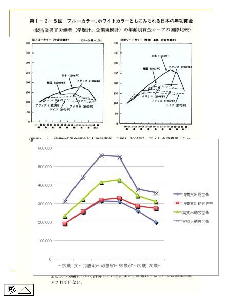 湯浅誠セミナー・収入カーブ